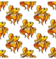 Seamless pattern of ornamental goldfish vector image
