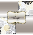 Winter design with silver white snowflakes vector image
