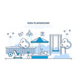 children s entertainment playground with a swings vector image