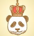 Crown Panda vector image