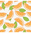 Orange slice seamless pattern vector image vector image