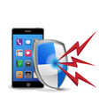 smart phone security vector image vector image