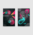 abstract trendy posters fluid geometric shapes vector image