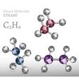 Ethane Molecule SET vector image