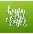 Happy Easter Egg lettering vector image