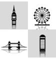 London landmarks design vector image