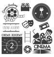 set of cinema logo labels Movie studio vector image