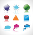 set of speech and thought vector image
