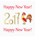 symbol rooster for year 2017 vector image