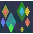 Retro Seamless Pattern Neon Pink Geometric vector image