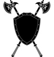 long axes and shield vector image vector image