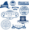Buffalo city New York vector image