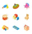 Kind of toys icons set cartoon style vector image