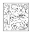world environment day hand drawn vector image