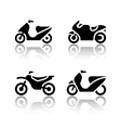 Set of transport icons - motorcycles vector image