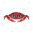 Red Crab Drawing vector image