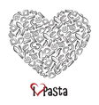 icon of pasta vector image vector image