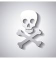 danger caution skull vector image