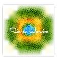 Brazil flag colors grunge background vector image