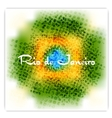 Brazil flag colors grunge background vector image