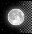 bright full moon in the clear night sky vector image