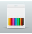 colored pencils in the box vector image