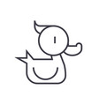 duck toy line icon sign on vector image