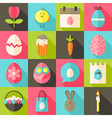 Easter flat styled icon set 2 with long shadow vector image