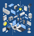 iot internet of things isometric composition vector image