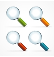 magnifying glass icon set vector image