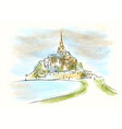 mont saint michel vector image
