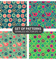 set of 4 seamless patterns vector image