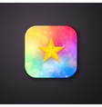 Square Buttons with Abstract Colors and a Star vector image
