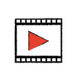 Strip film play cinema movie symbol vector image