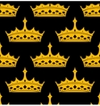 Vintage royal seamless apttern with golden crowns vector image