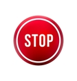 round red button stop vector image