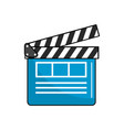 clapperboard to short film projection studio vector image