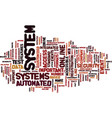 The most important features of automated systems vector image