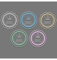 Round banners options for infographics design vector image