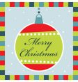 Christmas decoration greeting card vector image vector image