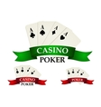 Casino gambling symbols and signs vector image