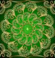 background with gold ornaments and precious vector image