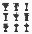 Trophy set vector image