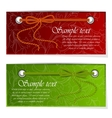 Set of banners with bow and tape vector image vector image