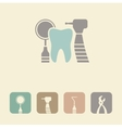 Dental symbol icon vector image