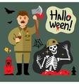 Halloween Zombie Cartoon vector image