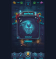 monster battle gui defeat playing field vector image