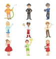 Kids With Their Future Professions Attributes vector image