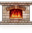 Home fireplace Christmas vector image