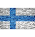 Flag of Finland on a brick wall vector image